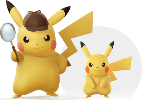 The hero Pikachu with an iconic detective look