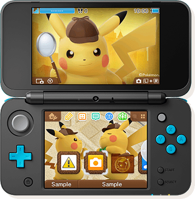 3DS hardware with theme