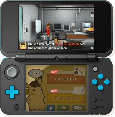 New Nintendo 2DS XL Detective Pikachu easy mode