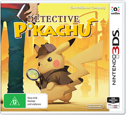Nintendo box art for Detective Pikachu 3DS game